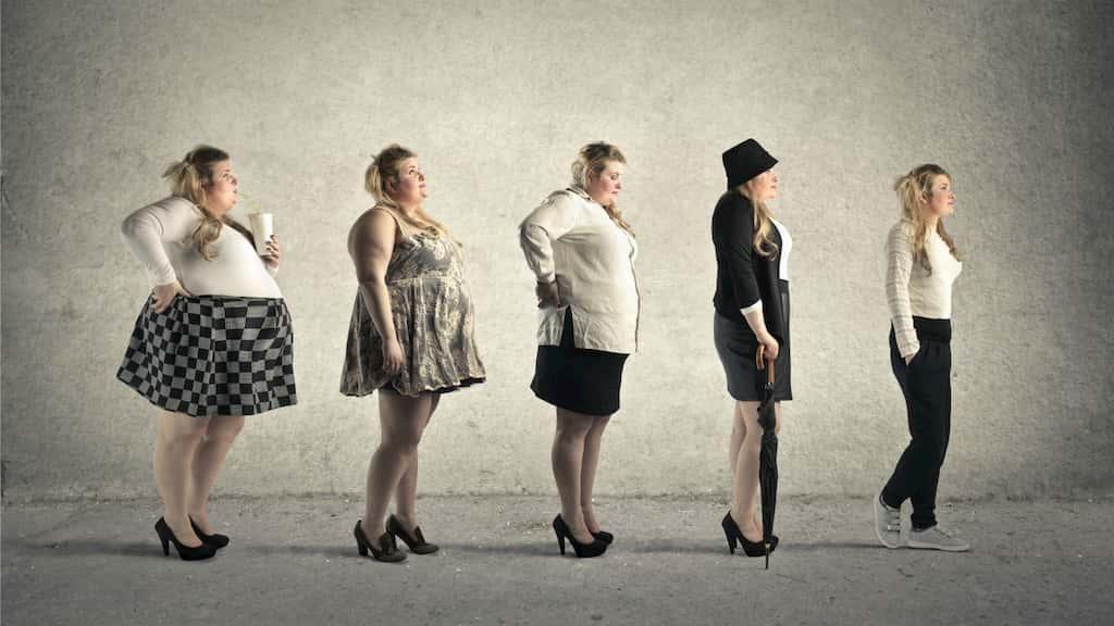 şişmandan zayıfa doğru kadınlar