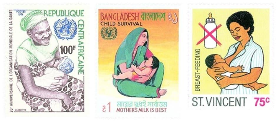 Anne sütü teşviki ile ilgili posta pulları