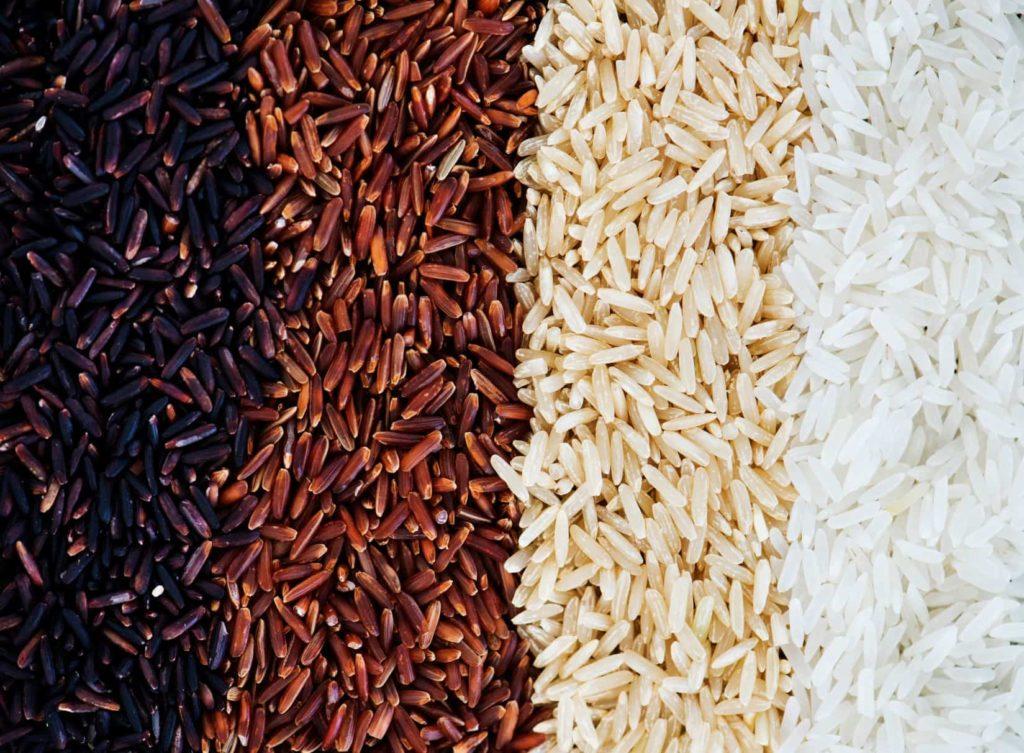 Farklı renklerdeki pirinç türleri